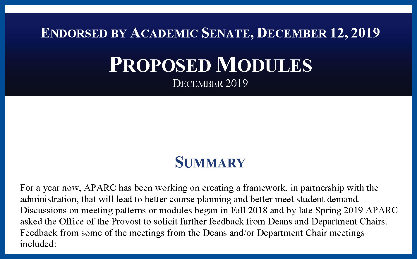 Proposed Class Modules - December 2019